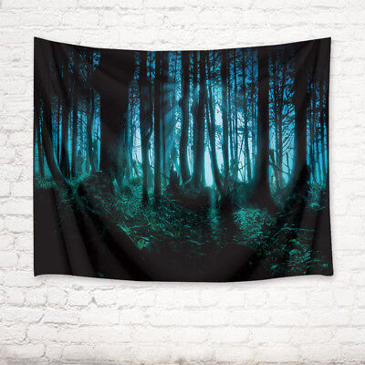 Halloween Haunted Woods Forest Trees Tapestry Wall Hanging for Living Room Dorm ()