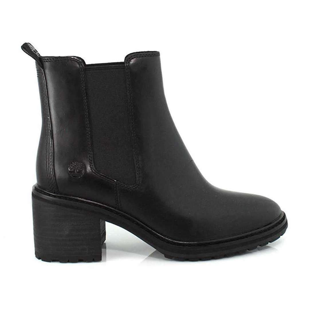 Timberland Women Sienna High Chelsea Block Heel Slip On Leather Boots