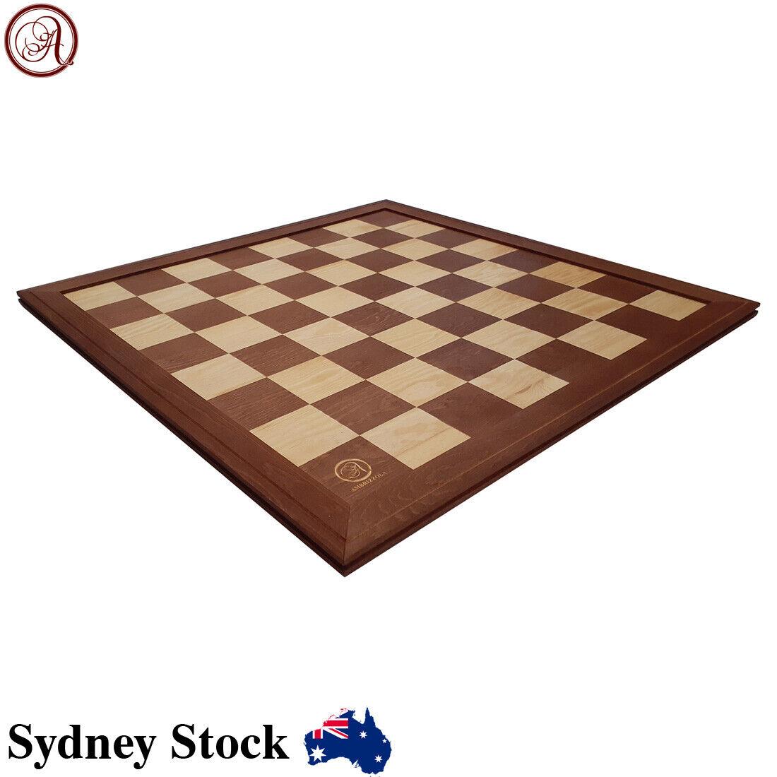 AMBRIZZOLA Wooden Chess Draughts /& Backgammon Storage Box