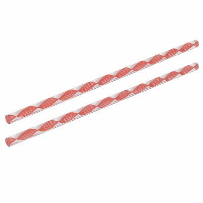 Varilla redonda Acrílico sólido PMMA Barra 250mmx8mm 2pcs Torcida línea rosa