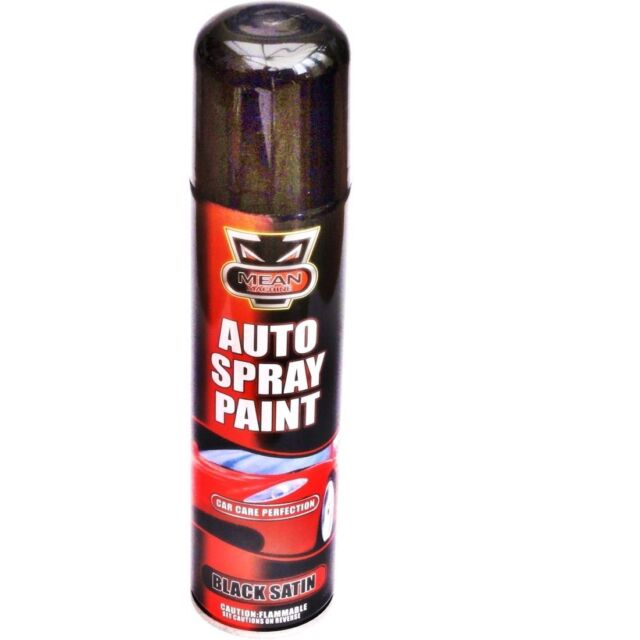 2 x car vehicle van auto spray paint black satin 300ml can ebay