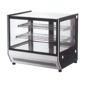 Bonvue Counter Top Square 2 Shelves Glass Cold Food Display Size 900mm