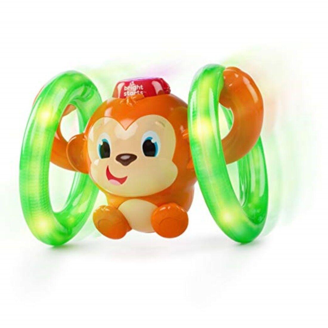 Bright Starts Lights Baby Roll Glow Monkey