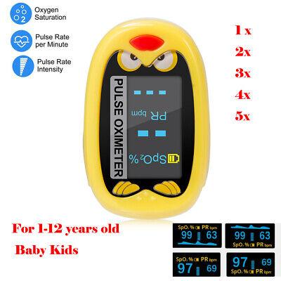 Infant Kids Digital Finger Pulse Oximeter Pediatric Spo2 Pr Monitor Rechargeable