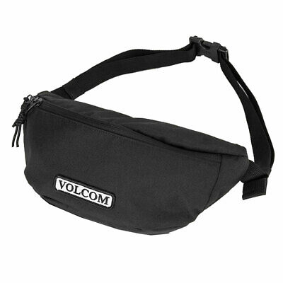 Volcom Men's Stone Azza Fanny Pack Pouch Waist Bag Black Travel Accessories S...