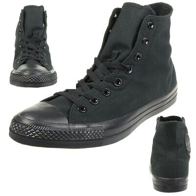 Schwarz Mono Hi Schuhe (Converse C Taylor A/S HI Chuck Schuhe Sneaker canvas Schwarz M3310C)
