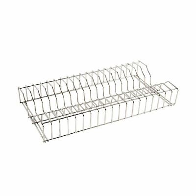 Vogue Buffalo Plate Rack Made Of Stainless Steel Can Be Attached To Wall - 610mm