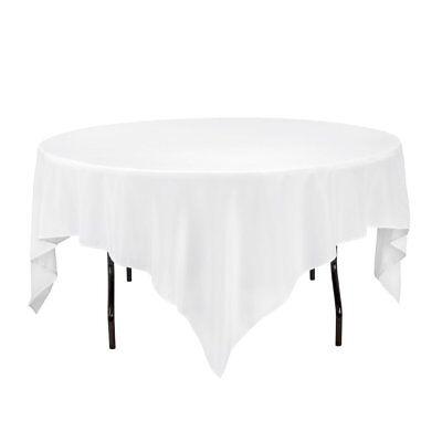 Gee Di Moda Square Tablecloth - 85 x 85 inch - White Square