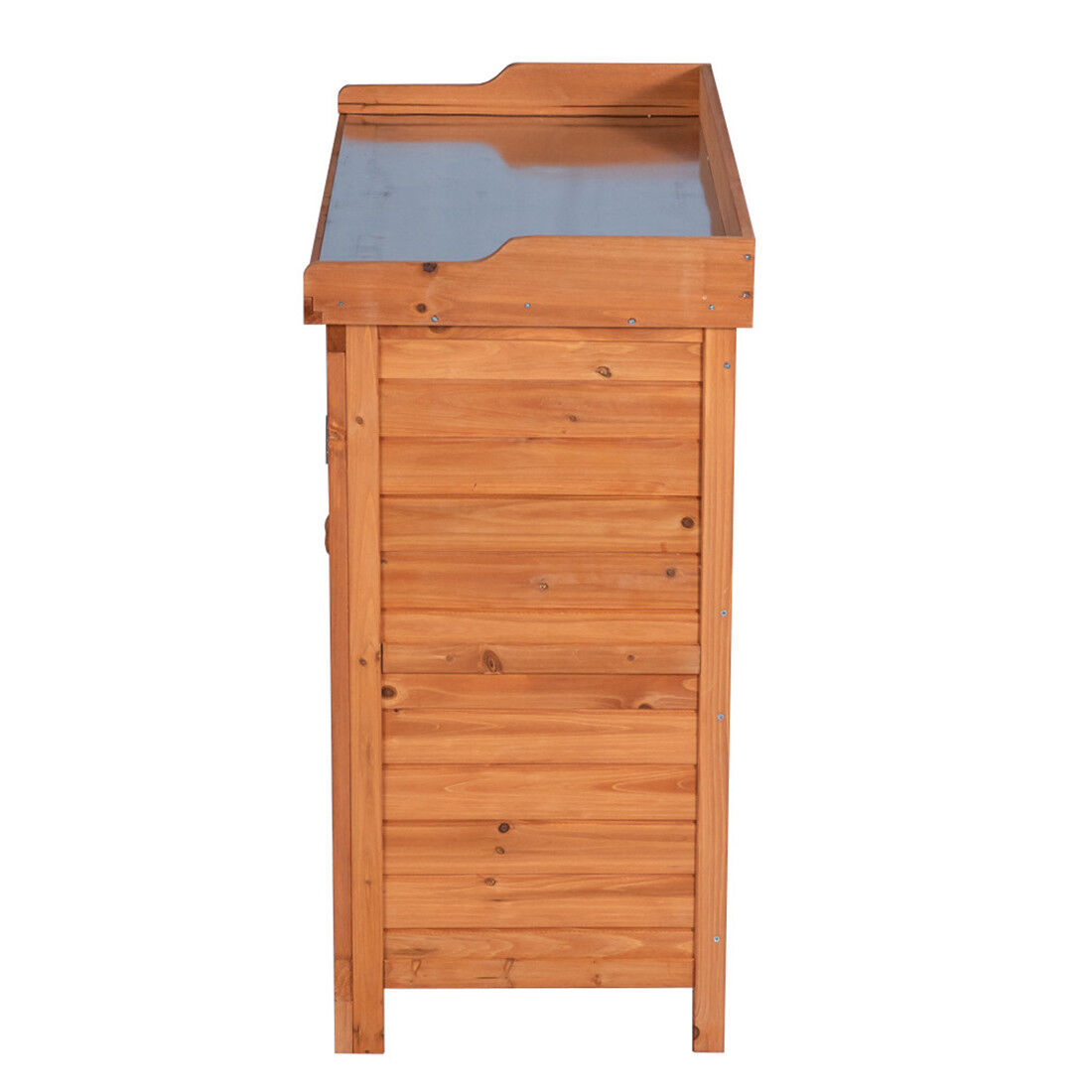Outdoor Garden Wood Storage Furniture Box Waterproof Tool Shed W Potting Bench