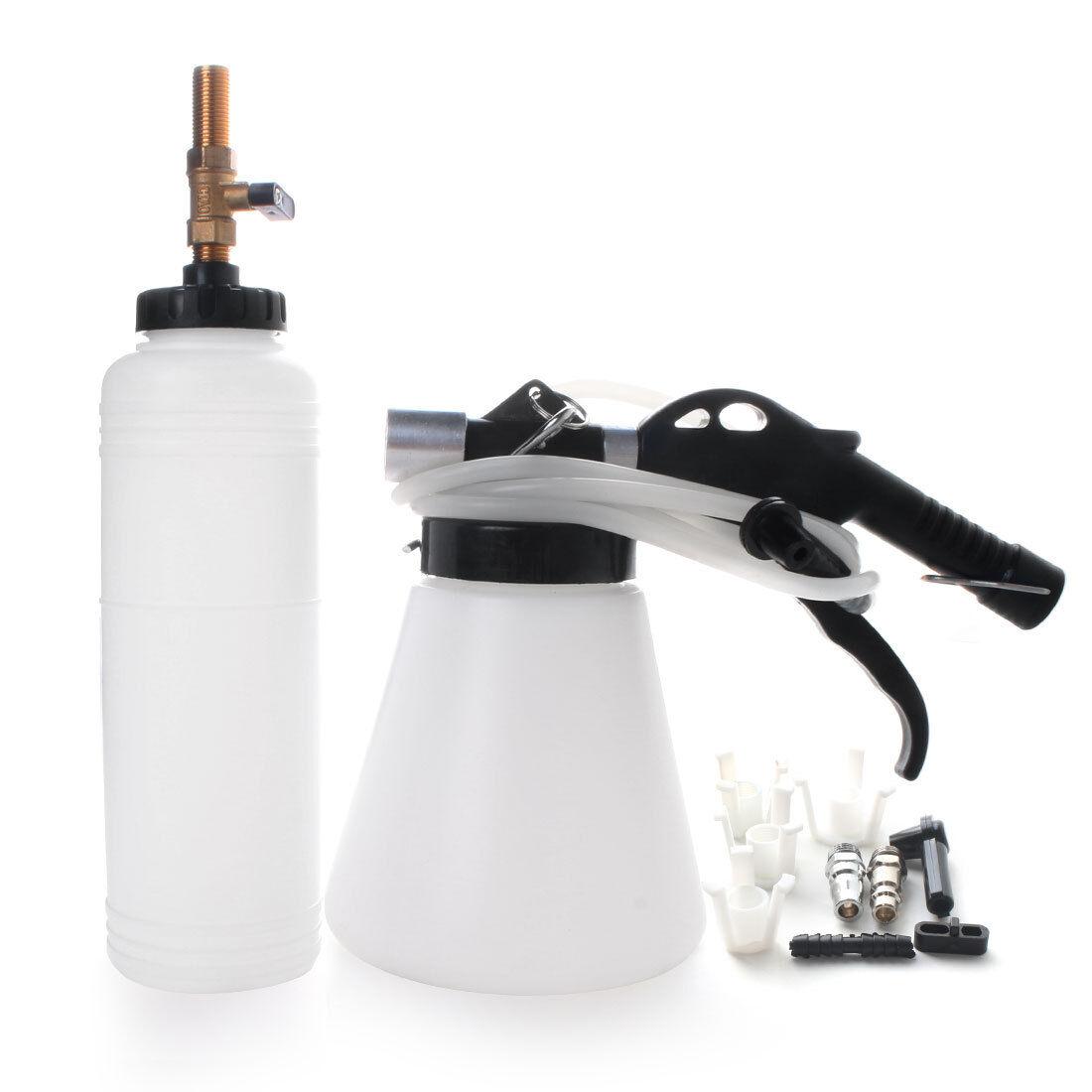 Pneumatic Brake Fluid Bleeder w// 4 Master Cylinder Adapters 90-120 PSI