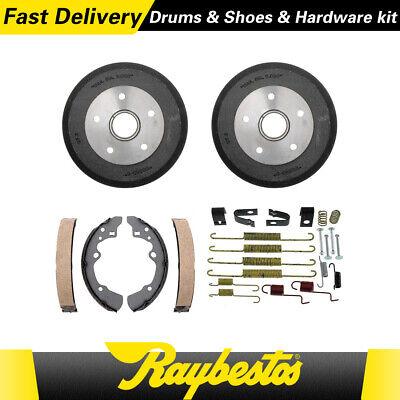 Rear Brake Drums & Brake Shoes Hardware Spring Kit Fits 1989-1992 Mazda 626