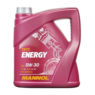 5W-30 Motoröl 4 Liter MANNOL Energy 5W30 VW 502.00 505.00 ACEA A3 B4 MB 229.3 (Audi A4 Leichter)