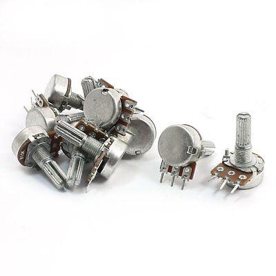 10pcs 10k Ohm Linear Taper Potentiometer Pot B10k