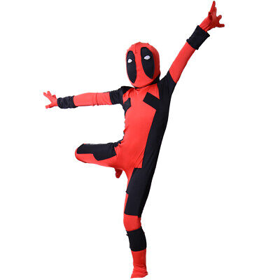 Unisex Deadpool Adult Halloween Jumpsuit Cosplay Costume for Child Full Bodysuit](Mardi Gras Costume For Kids)