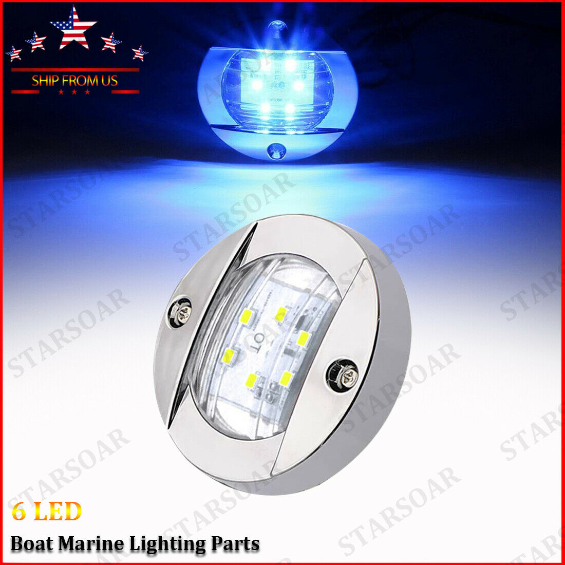 STAINLESS STEEL TRANSOM FOR BOATS NAVIGATION LED STERN LIGHT
