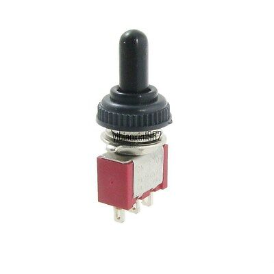 2pcs Onoffon Momentary 3position Spdt 3pins Toggle Switch With Waterproof Boot