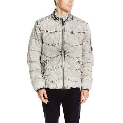 Calvin Klein Men's Quilted Stand Collar Jacket Full Zip Wint