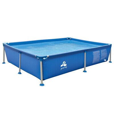 Familien Pool Blau 228x159x42 Stahlrahmen Schwimmbecken Schwimmbad Planschbecken