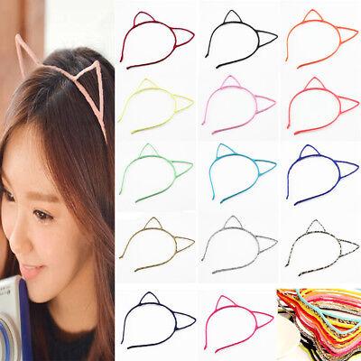Women Lady Kid girl Pink Cat Kitty Animal Costume Ear Party Hair head band Prop - Animal Ear Headbands