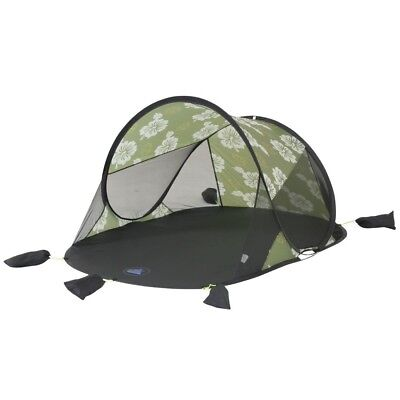 10T Flower Beach - Pop-up beach tent, 200x125x90 cm, wind & sun protection
