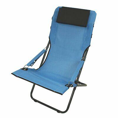 Silla de camping RCB Silla plegable Azul Silla de playa Respaldo regulable
