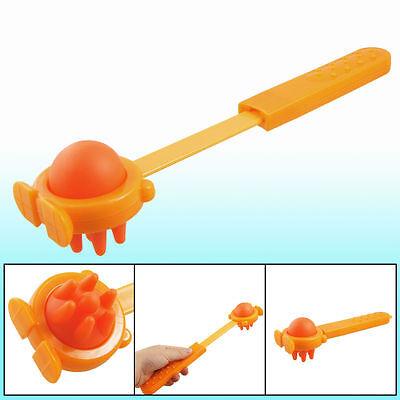 Orange Body Stress Reliever Plastic Retractable Handle Massage Hammer Stick (Orange Massage-stick)