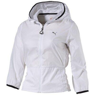 Puma Damen Lauf Running  Freizeit Jacke WT Clash Woven Jacket weiss Running Woven Jacket