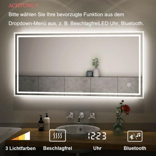 Badspiegel LED Touch mit Beleuchtung Wandspiegel Badezimmerspiegel Spiegel EA++
