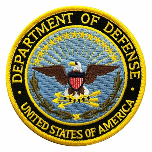 U.S.A Department of Defense DOD Iron on Sew on 4 inch Patch