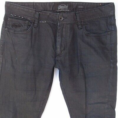 Mens SuperDry SKINNY Stretch Black Jeans W36 L34