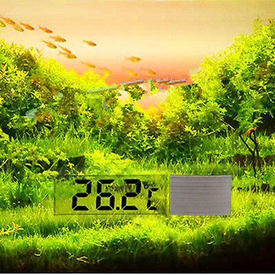 1Pcs Lcd 3D Digital Electronic Measurement Fish Tank Aquarium Thermometer Random