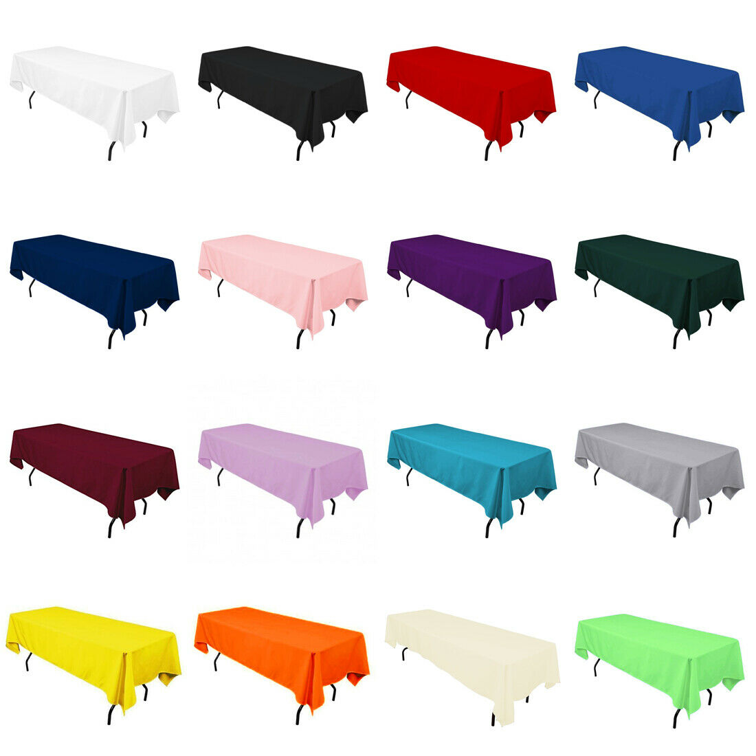 "60"" x 102"" Rectangular Seamless Tablecloth For Wedding Resta"
