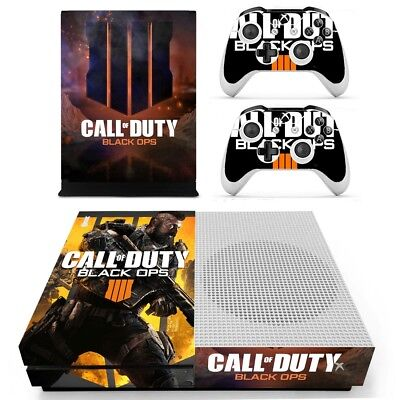 Xbox ONE S SLIM Skin Sticker for Console 2 Controllers Call of Duty Black Ops