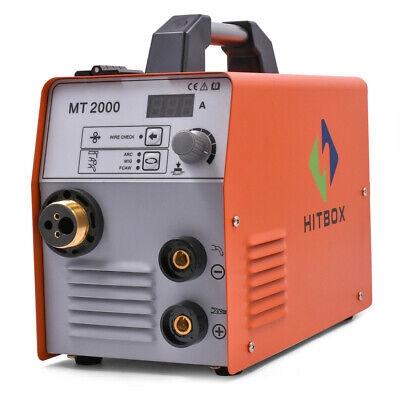 Hitbox Mig Welder Machine 180a 220v Gas Gasless Inverter Mig Welding Machine