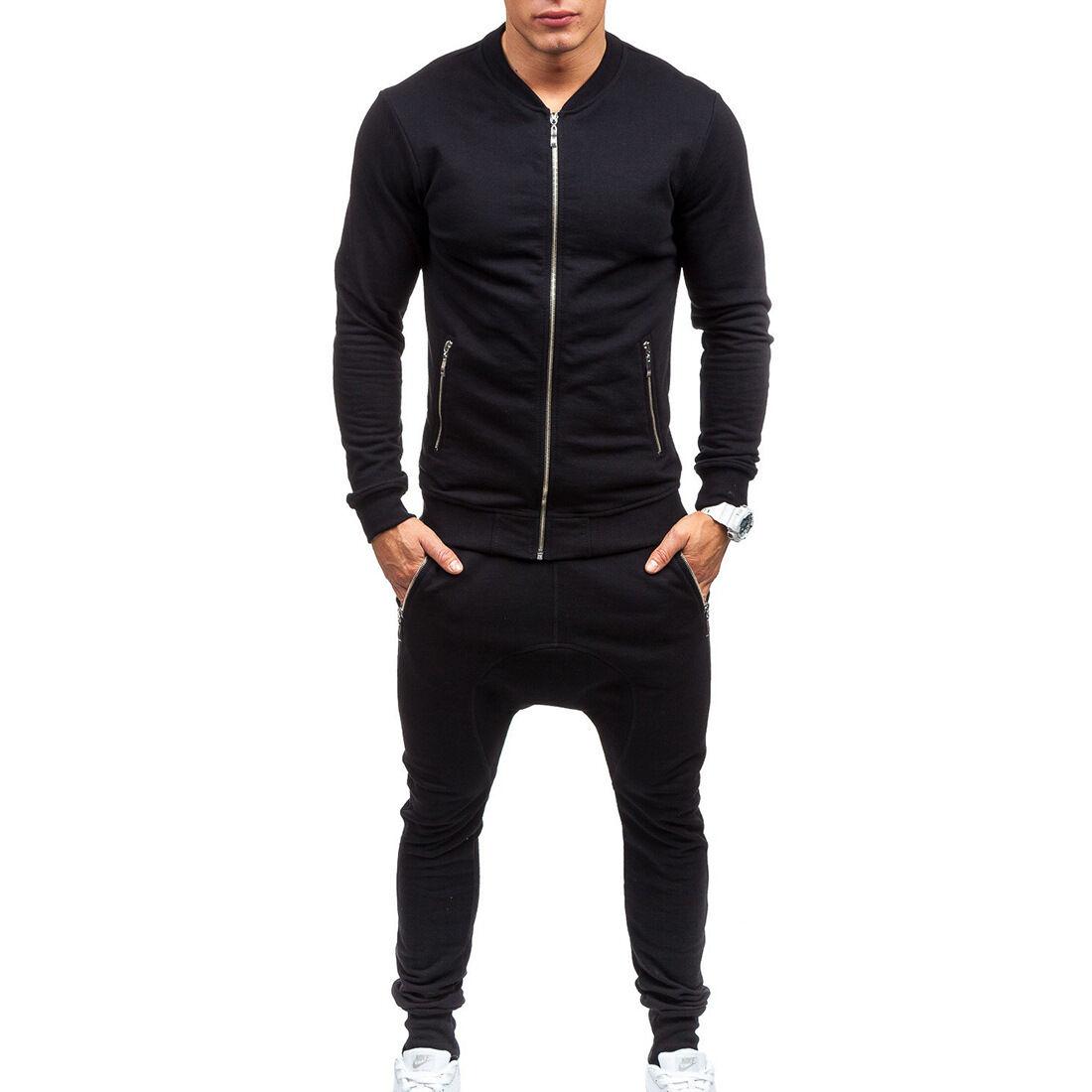 homme combinaison de jogging tenue de sport pantalon veste eur 20 19 picclick fr. Black Bedroom Furniture Sets. Home Design Ideas