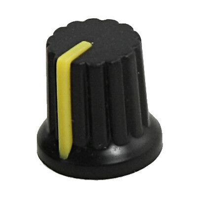 10 Pcs 6mm Shaft Hole Dia Knurled Grip Potentiometer Pot Knobs Caps Lw
