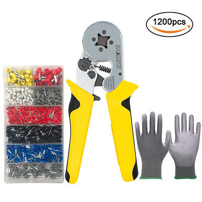 Crimper Pliers Kit 1200pcs Wire Terminals 0.08-10mm2 Crimping Tools Awg26-7