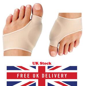 Pair Fabric Gel Toe Bunion Pad Protector Sleeves Footful Hallux Valgus Corrector
