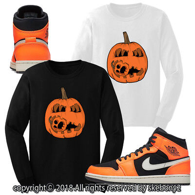 Jordan 6 Halloween (CUSTOM T SHIRT MATCHING STYLE OF AIR JORDAN 1 MID FOR HALLOWEEN JD)
