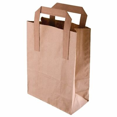 Fiesta Green Recycled Paper Carrier Bags n Brown - Large - Pack Quantity - 250