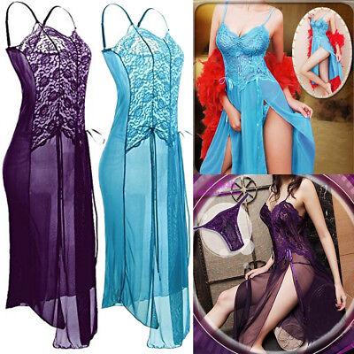 US Women Sexy Lingerie Set Lace Pajamas Babydoll Exotic Lingerie Sleepwear Dress
