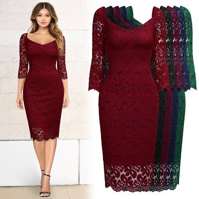 Women's Slimming Floral Lace Evening Dress, An Elegant Style for - 20s Style Dress