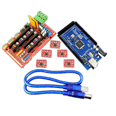 Reprap Ramps 1.4 W Mega2560r3 Control Board W A4988 Driver 3d Printer Kit