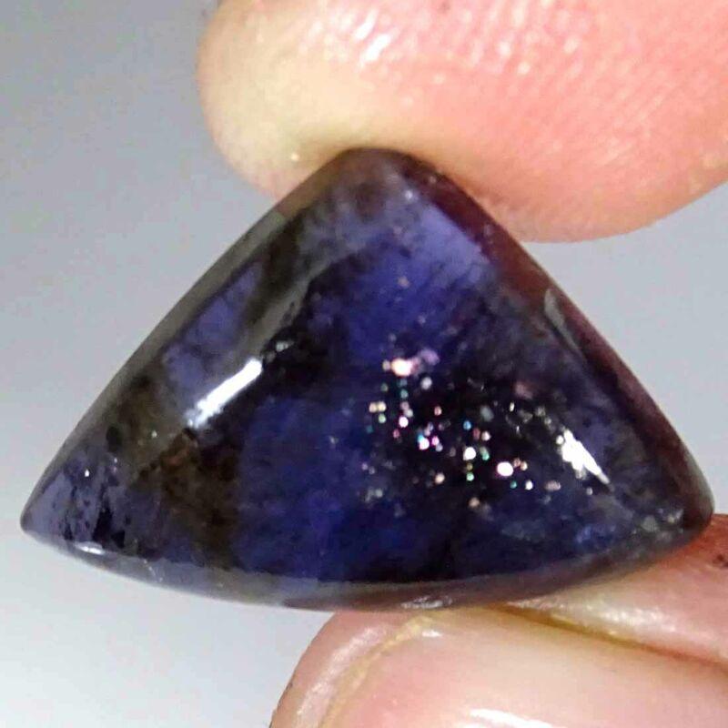 09.80Cts Natural Blue Iolite Sunstone Fancy Cabochon Loose Gemstone