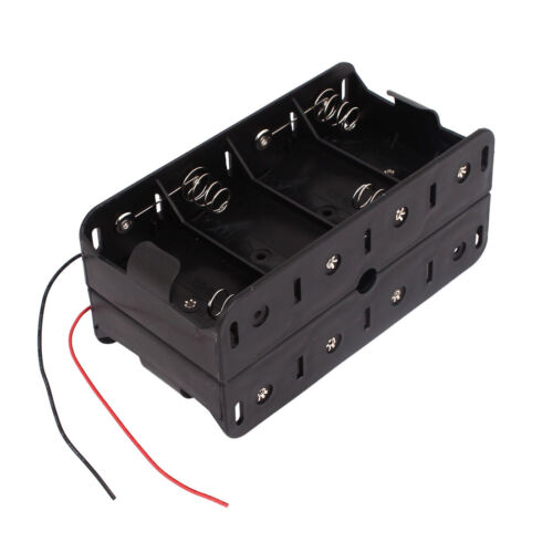 Dual Wires Double Sides Storage Case Box for 8 x 1.5V D Size Battery F4M1