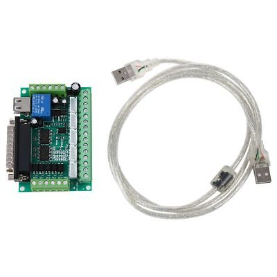 Upgraded 5 Axis Cnc Breakout Board For Stepper Motor Driver Mach3 Usb Cable Di