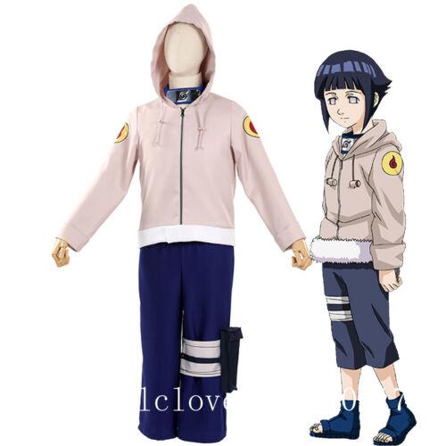 New Cosplay Anime Naruto Hyuga Hinata Halloween Costume Jacket Pants Uniform Set