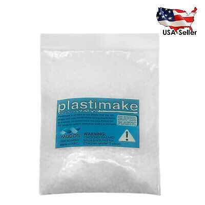 PLASTIMAKE 100g THERMOPLASTIC POLYMORPH MOLDABLE PLASTIC INSTAMORPH FRIENDLY DIY