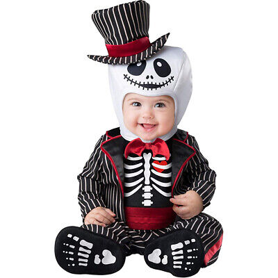 Lil Skeleton Monster Boys Infant Cute Jack Halloween Costume](Cute Horror Halloween Costumes)