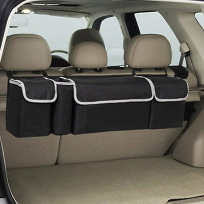 2in1 Car Trunk Accessories Multi use Organizer Backseat Storage Bag Oxford Cloth